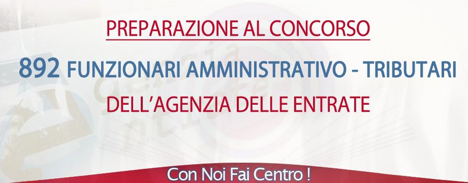 Concorso Agenzia Entrate 2015